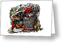 Little Red Sleepy Hood Greeting Card