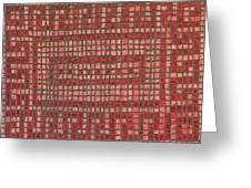 Little Red Tiles Greeting Card