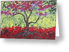 Little Red Tree Greeting Card