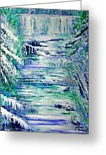 Little River Canyon Ice Storm Greeting Card