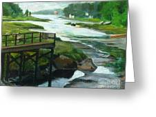 Little River Gloucester Study Greeting Card