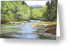 Little River Morning Greeting Card