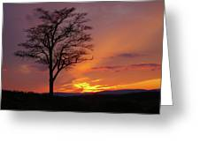 Little Round Top Sunset Greeting Card
