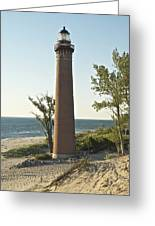 Little Sable Point Light Greeting Card