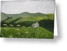 Little Schoolhouse On The Hill Greeting Card