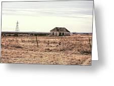 Little Shack On The Prairie Greeting Card