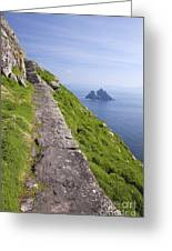 Little Skellig Island, From Skellig Michael, County Kerry Ireland Greeting Card