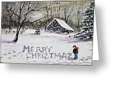 Little Snow Writer Greeting Card