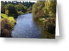 Little Spokane River Greeting Card