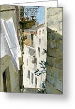 Little Street In Dubrovnik Greeting Card