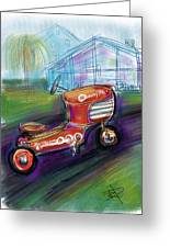 Little Tractor Greeting Card