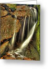 Little Waterfall At Burn O Vat Greeting Card by Gabor Pozsgai