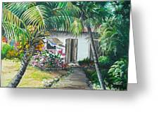Little West Indian House 2...sold Greeting Card
