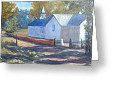 Little White Church In New Mexico Greeting Card