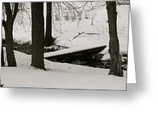 Little Winter Crossing Greeting Card