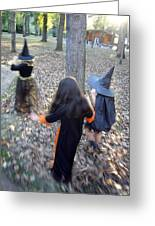 Little Witches Greeting Card