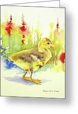 Little Yellow Duck Greeting Card