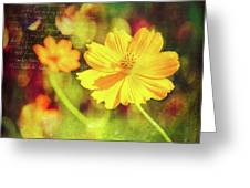 Little Yellow Flowers Greeting Card