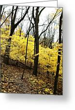 Little Yellow Trees Greeting Card