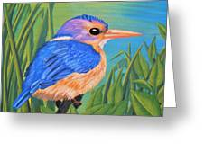 Litttle King Of The Fishers Greeting Card