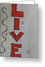 Live Acrylic Watercolor Greeting Card