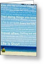 Live Life Greeting Card by Brad Scott