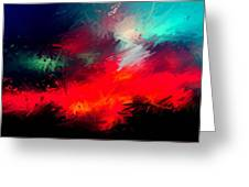 Splashing Colors Of What I Seen Greeting Card