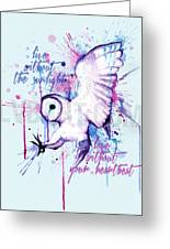 Live Without The Sunlight Owl Greeting Card