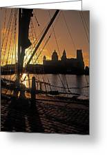 Liverpool, England View From Albert Dock Greeting Card