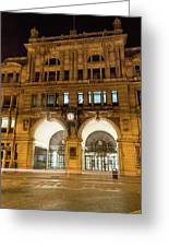 Liverpool Exchange Railway Station By Night Greeting Card