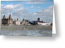 Liverpool Panoramic View Greeting Card