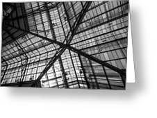 Liverpool Street Station Glass Ceiling Abstract Greeting Card