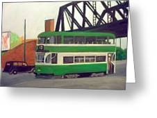 Liverpool Tram 1953 Greeting Card