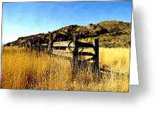 Livery Fence At Dripping Springs Greeting Card