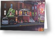 Living Above Highway 64 Greeting Card by Bobbi Baltzer-Jacobo