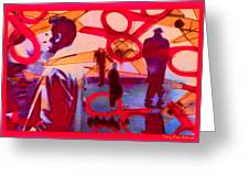 Living Cutouts Drifting Into The Spirit World/we Are All Born Asleep Greeting Card