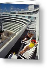 Living High At The Fontainebleau Greeting Card
