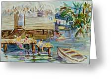 Living On The Water Greeting Card