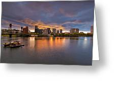 Living On The Willamette River Greeting Card