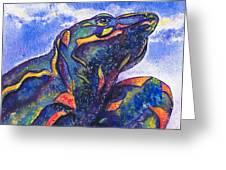 Lizard In The Desert 2 Greeting Card