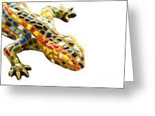 Lizard Souvenir By Antony Gaudi Greeting Card by Soultana Koleska