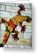 Lizard Wall Art Greeting Card