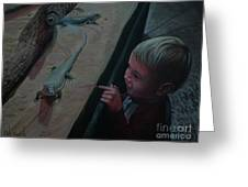Lizards At The Zoo Greeting Card