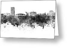 Ljubljana Skyline In Black Watercolor On White Background Greeting Card