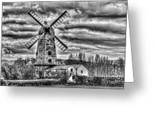 Llancayo Mill Usk 3 Mono Greeting Card