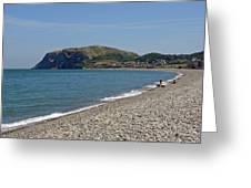 Llandudno Beach Greeting Card