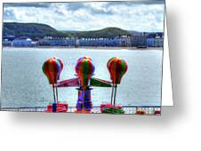 Llandudno Fun For The Kids On The Pier Greeting Card
