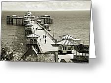 Llandudno Pier North Wales Uk Greeting Card