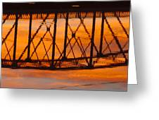 Llano Bridge Reflection Greeting Card