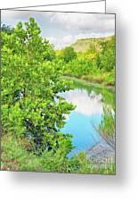 Llano River Scenic Greeting Card